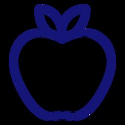 Apple icono trazo manzana
