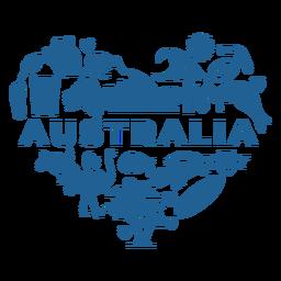 Coração azul austrália