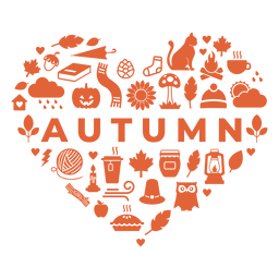 Autumn season heart