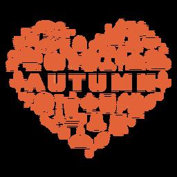 Coração da estação do outono