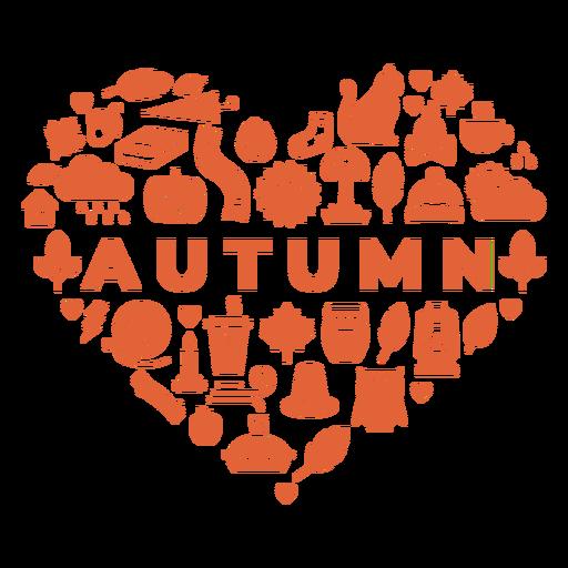 Autumn season heart