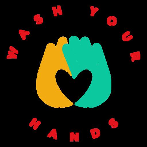 Crachá lave as mãos
