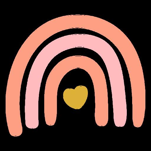 Hermoso arco iris rosa plano