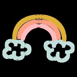 Lindo arco-íris plana