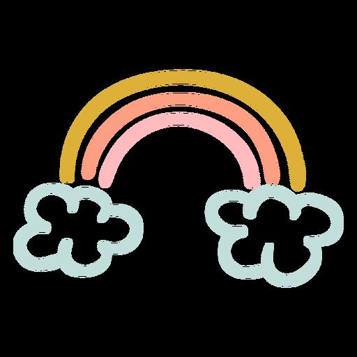 Hermoso arcoiris plano
