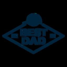 El mejor padre desde siempre insignia