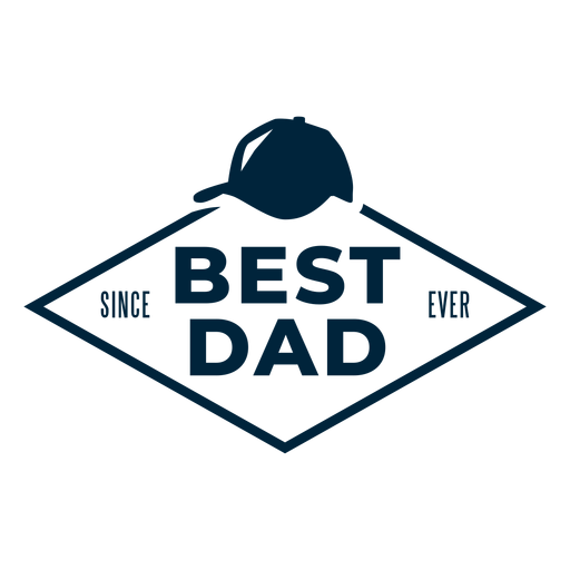 Best dad since ever badge Transparent PNG