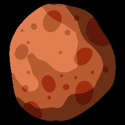 Ilustración de gran asteroide