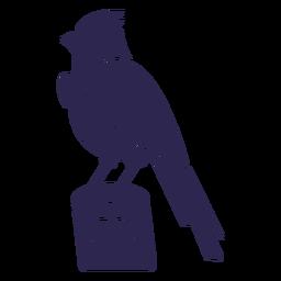 Bird in trunk black