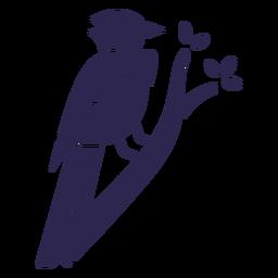 Blue jay bird black