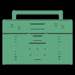 Cassete Boombox plana verde