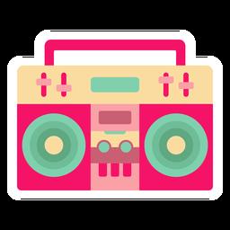 Autocolante plano de caixa de som Boombox