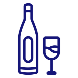 Bottle of champagne icon stroke