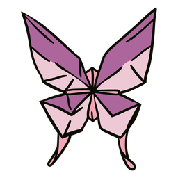 Butterfly origami illustration