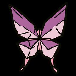 Ilustración de origami de mariposa