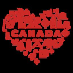Coração vermelho do Canadá