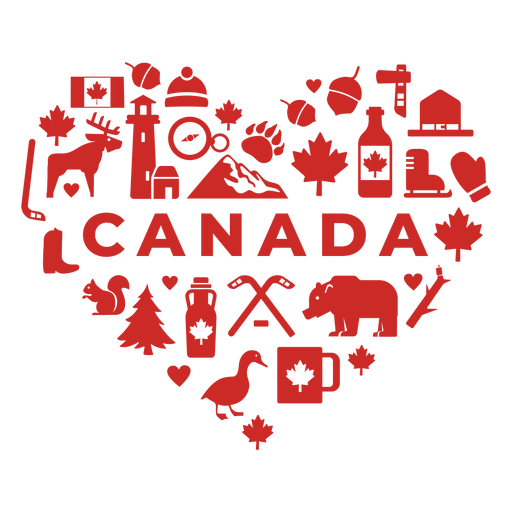 Canada red heart