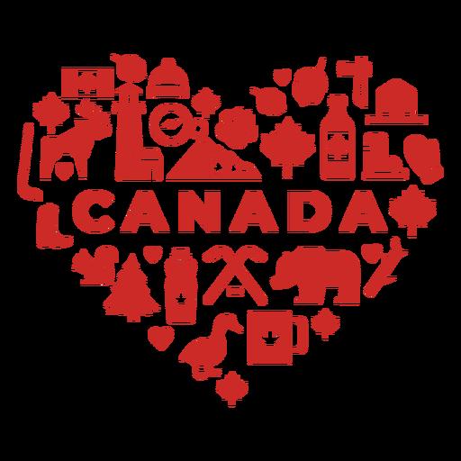 Coração vermelho do Canadá Transparent PNG