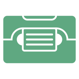 Casette verde plana