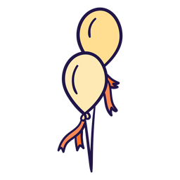 Ilustración de globos de celebración