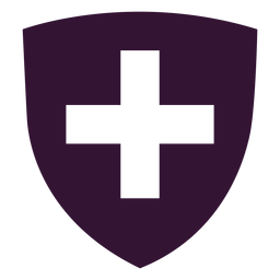 Escudo de armas icono de Suiza