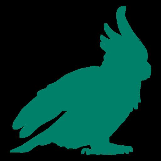 Silueta de pájaro cacatúa