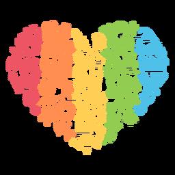 Coração da estação colorida