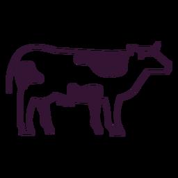 Golpe de vaca animal