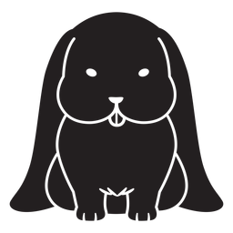 Coelho marrom bonito preto