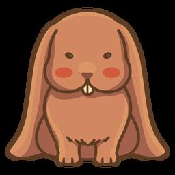 Ilustración linda del conejo marrón