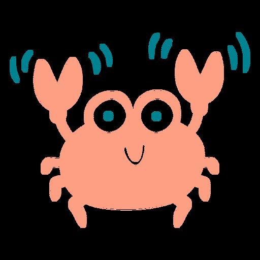 Cute happy crab flat