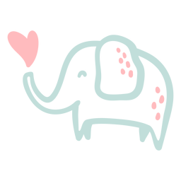 Cute happy elephant flat