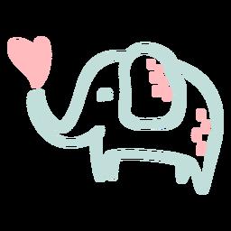 Lindo elefante feliz plano
