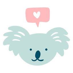 Cute happy koala flat