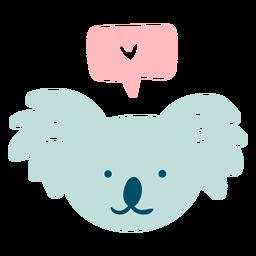 Lindo koala feliz plana