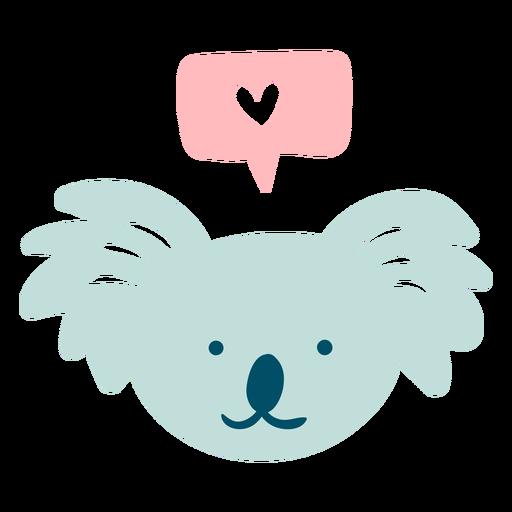 Cute happy koala flat