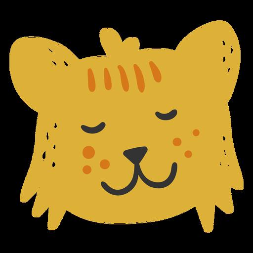 Cute happy lion cub flat