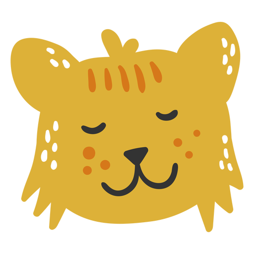 Filhote de leão fofo e feliz