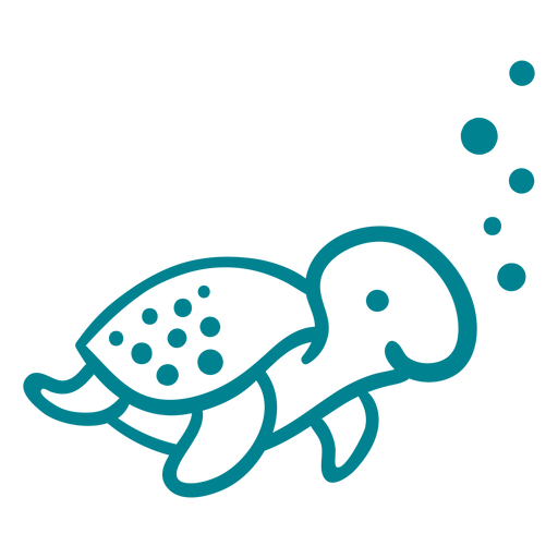 Cute happy turtle stroke