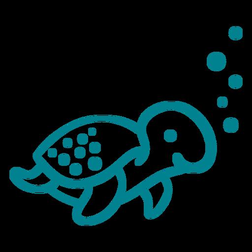 Netter glücklicher Schildkrötenschlag