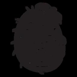 Lindo erizo con sombrero negro