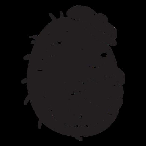 Cute hedgehog with hat black Transparent PNG