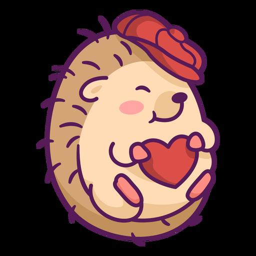 Cute hedgehog with hat illustration