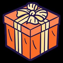 Ilustração presente laranja fofa