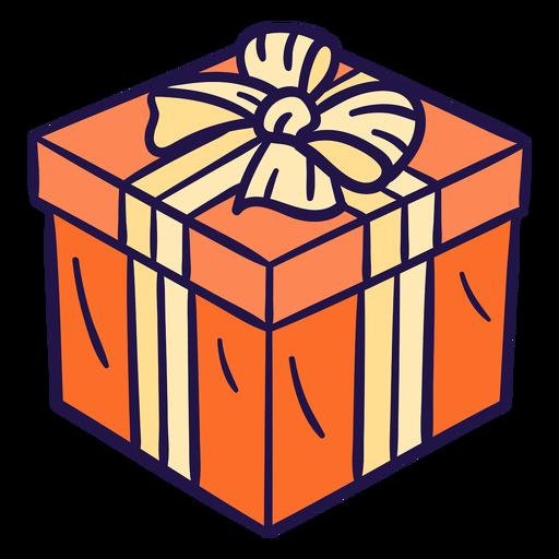 Linda ilustración presente naranja