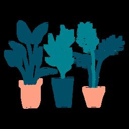 Süße Pflanzen flach