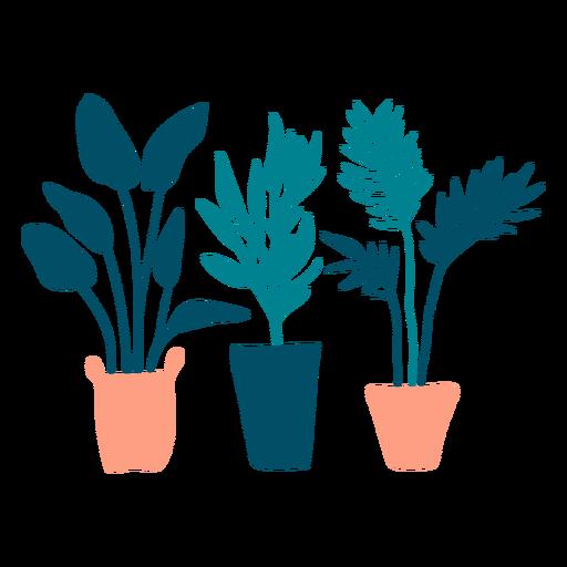 Plantas fofas planas