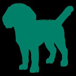 Cute puppy silhouette