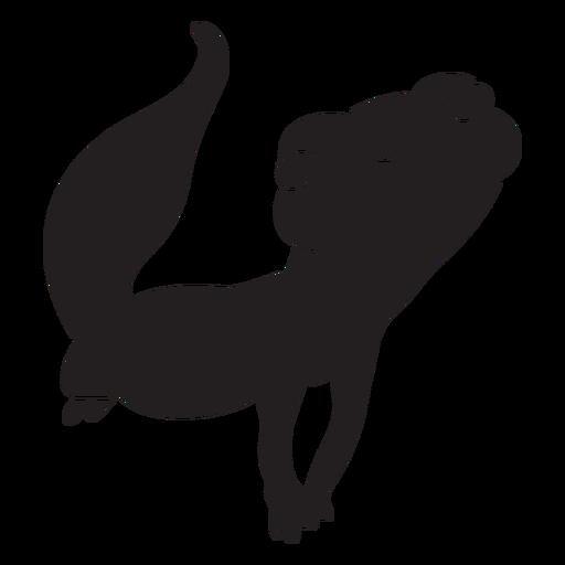 Lindo lagarto sonriente negro