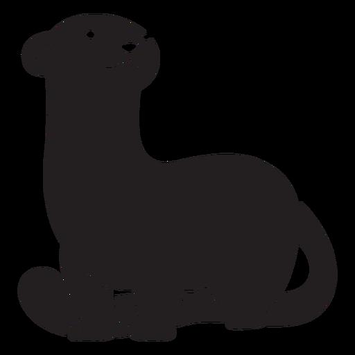 Cute standing ferret black